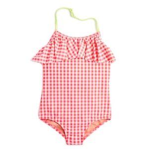 crewcuts J.Crew Girls' Ruffle One-Piece Swimsuit